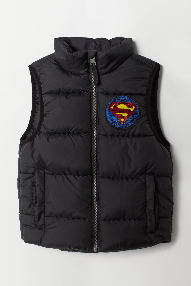 Padded gilet - Black/Justice League - Kids | H&M