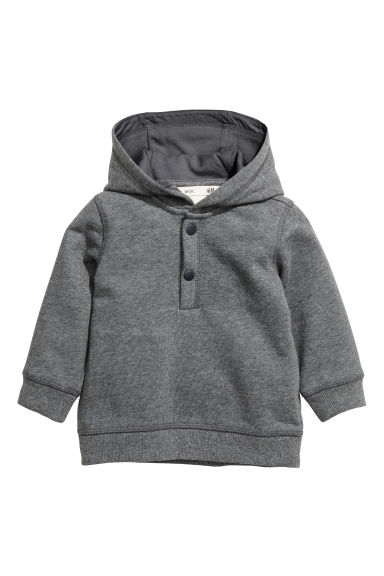 Sweat-shirt à capuche en coton - Gris foncé -  | H&M BE