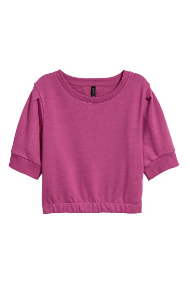 Short-sleeved sweatshirt - Purple -  | H&M