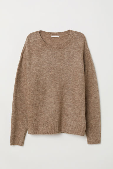 Knitted jumper - Beige marl - Ladies | H&M