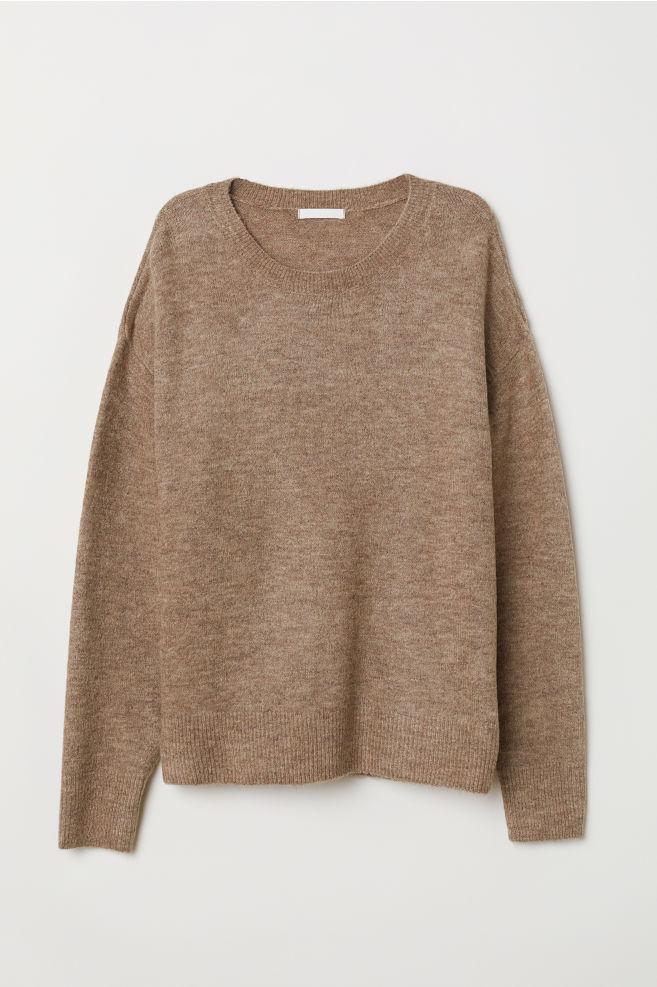 57a47164625 Pletený svetr - Béžový melír - ŽENY
