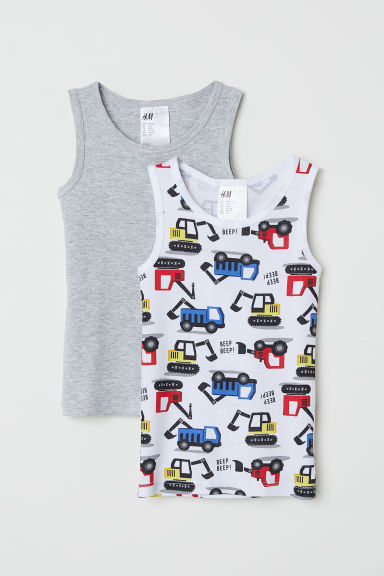 2-pack vest tops - Grey/Diggers - Kids | H&M
