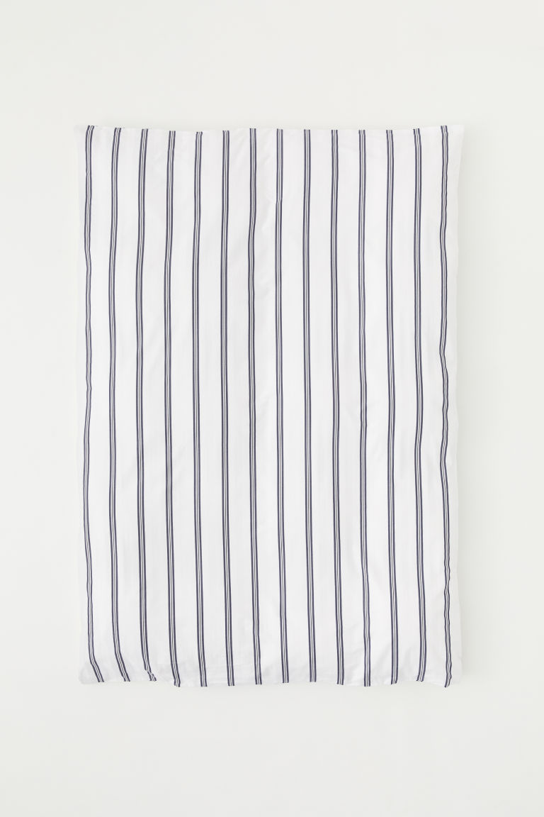 Single duvet cover - White/Striped - Home All | H&M CN