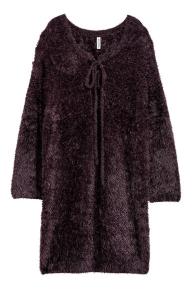 Fluffy-knit dress - Plum purple - Ladies | H&M