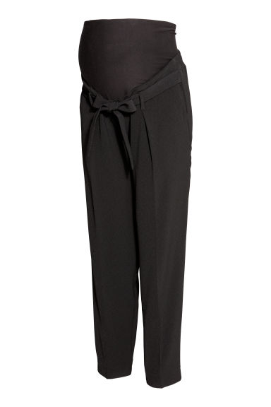MAMA Crêpe trousers - Black -  | H&M CN
