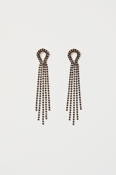 Long sparkly earrings - Gold-coloured -  | H&M CN