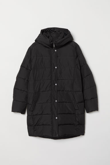 H&M+ Padded jacket - Black - Ladies | H&M CN