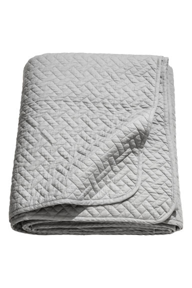 Quilted bedspread double - Grey - Home All | H&M CN