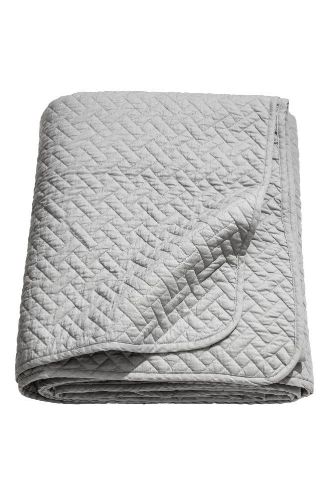 Nice Quiltet sengetæppe dobbelt - Grå - Home All   H&M DK VS21