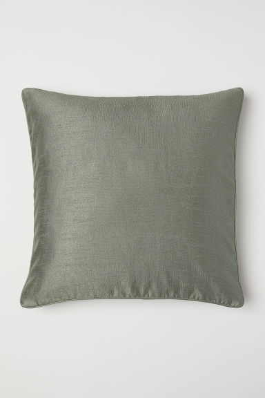 Crinkled cushion cover - Khaki green - Home All | H&M CN