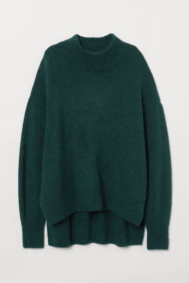 Turtleneck jumper - Dark green - Ladies | H&M CN