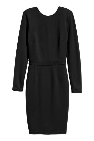 Fitted dress - Black -  | H&M CN