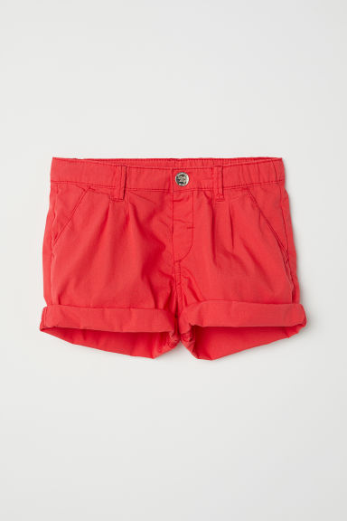 Cotton shorts - Red - Kids | H&M