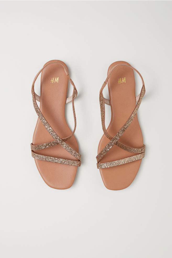 Sandalias - Brillo dorado - MUJER   H&M ES 2