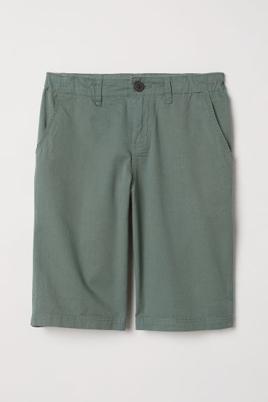 Chino shorts - Khaki green - Kids | H&M CN