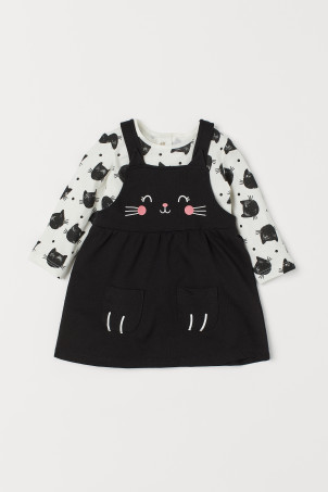Bib Overall Dress and Top