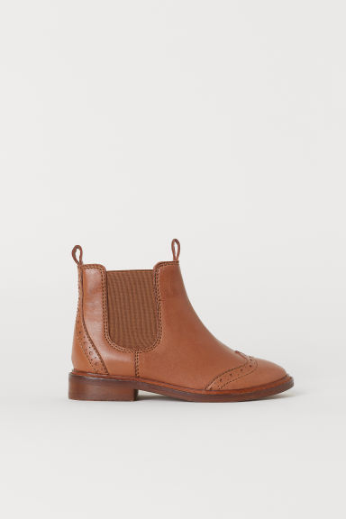 Leather Chelsea boots - Camel - Kids | H&M CN