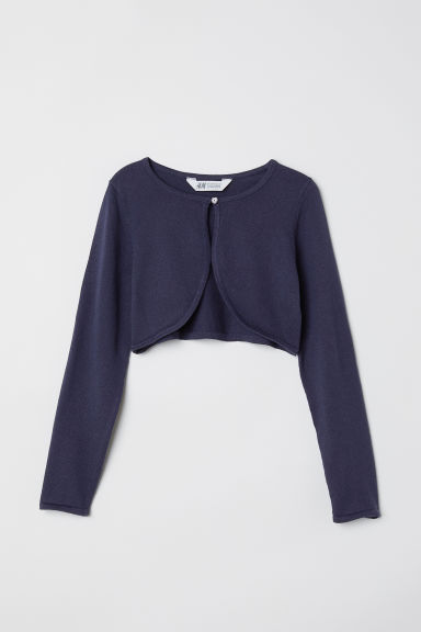 Fine-knit bolero - Dark blue -  | H&M