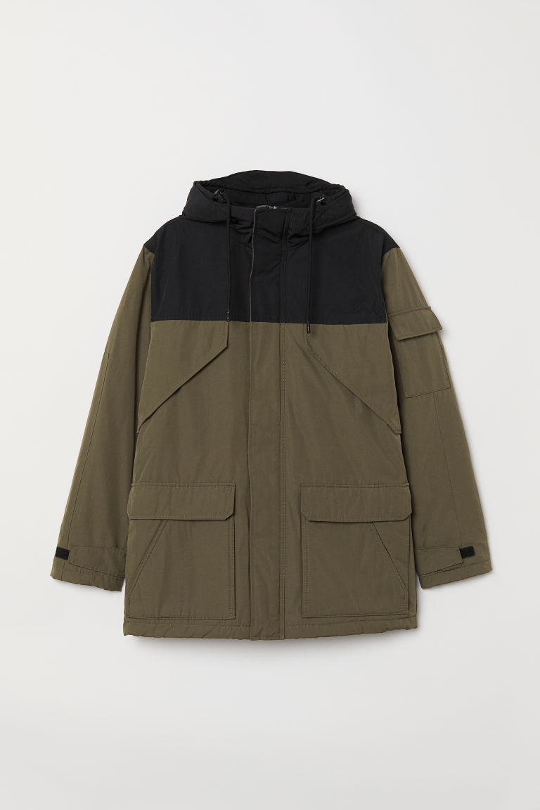 Padded jacket - Khaki green - Men | H&M CN