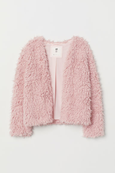 Faux fur cardigan - Pink - Kids | H&M CN