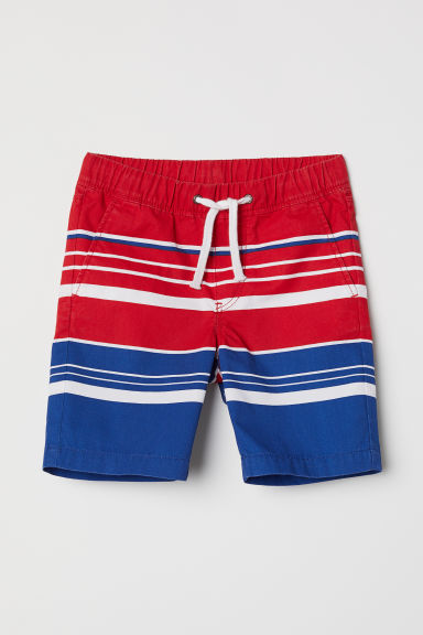 Twill shorts - Red/Blue - Kids | H&M CN