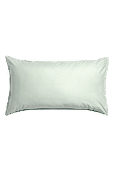 Washed cotton pillowcase - Light green - Home All | H&M CN