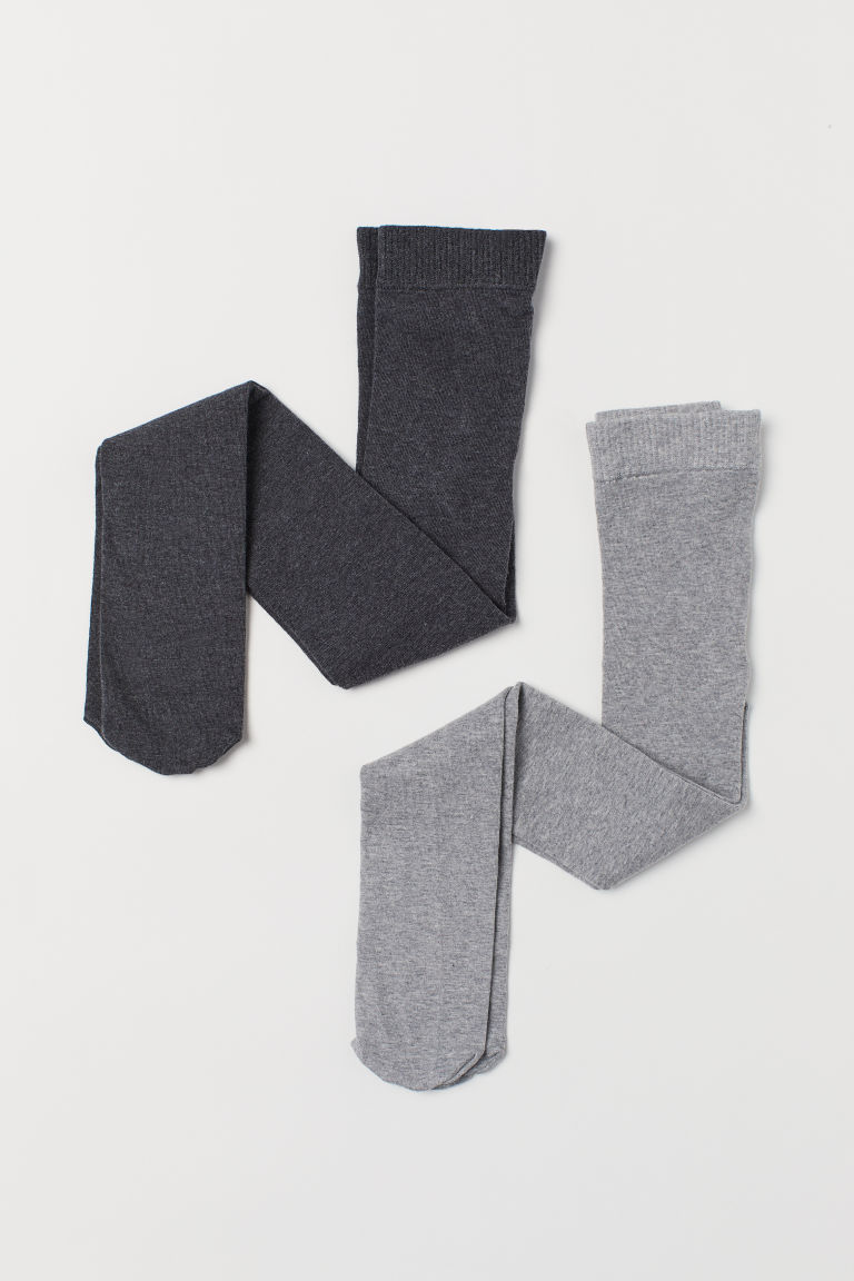 2-pack tights - Light grey - Kids | H&M
