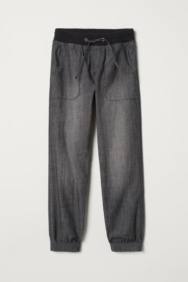 Joggers - Zwart washed out - KINDEREN | H&M BE