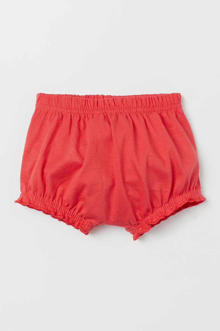 Cotton puff pants - Raspberry red - Kids | H&M