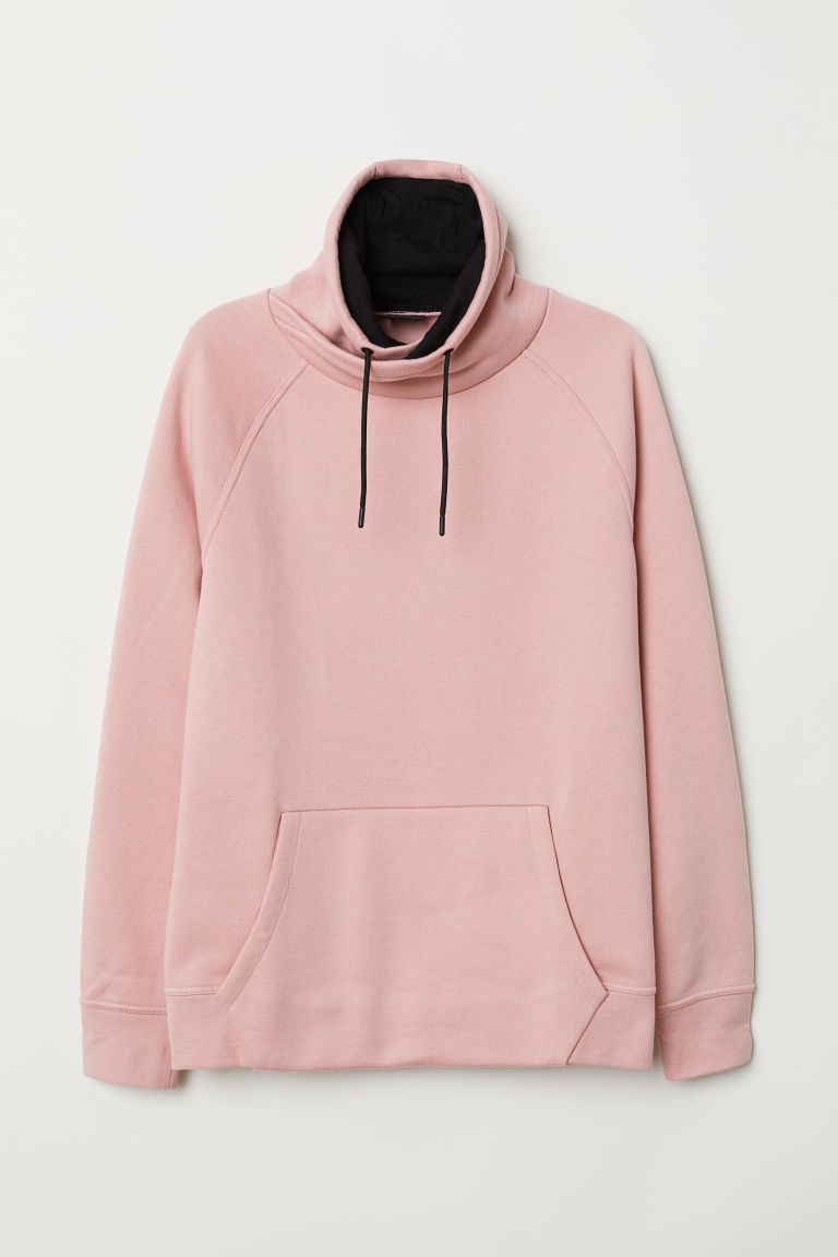 Funnel-collar sweatshirt - Dusky pink - Men | H&M