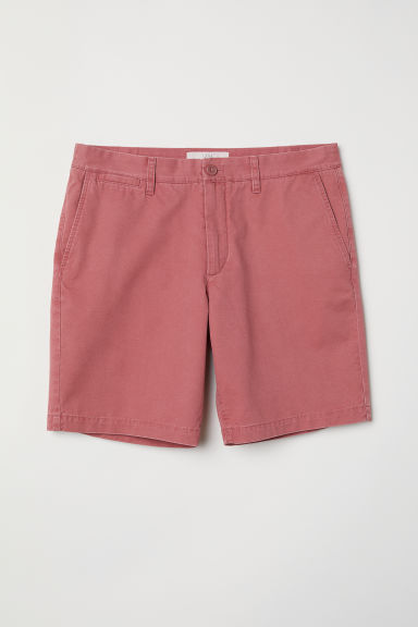 Chino shorts - Light red - Men | H&M
