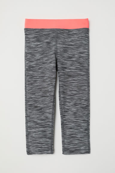 3/4-length sports tights - Dark grey marl - Kids | H&M