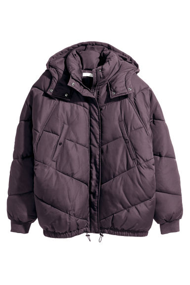 Padded jacket - Dark purple - Ladies | H&M GB