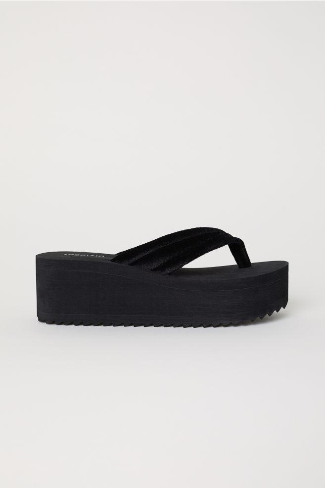 92b0504c7130 Platform Flip-flops - Black - Ladies