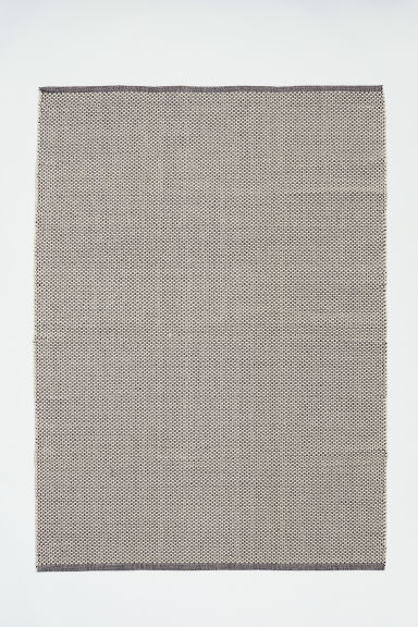 Cotton rug - Natural white/Patterned -  | H&M CN