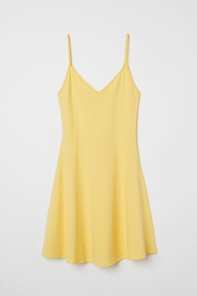 Short jersey dress - Yellow -  | H&M CN