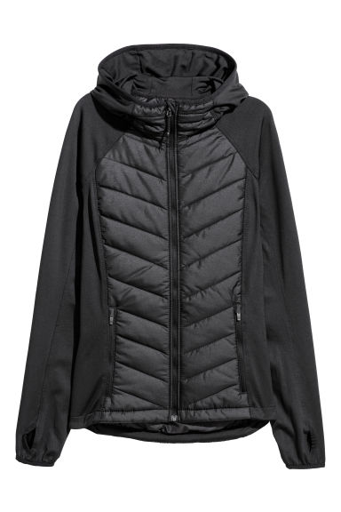 Padded outdoor jacket - Black -  | H&M CN
