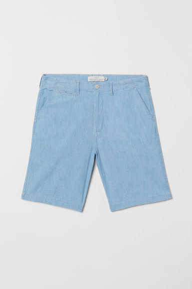 Cotton shorts - Light denim blue - Men | H&M