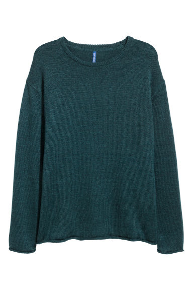 Knitted jumper - Dark petrol -  | H&M CN