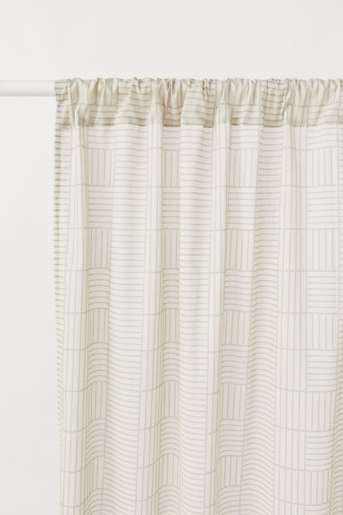 2-pack curtain lengths - Light mole/Patterned - Home All | H&M CN