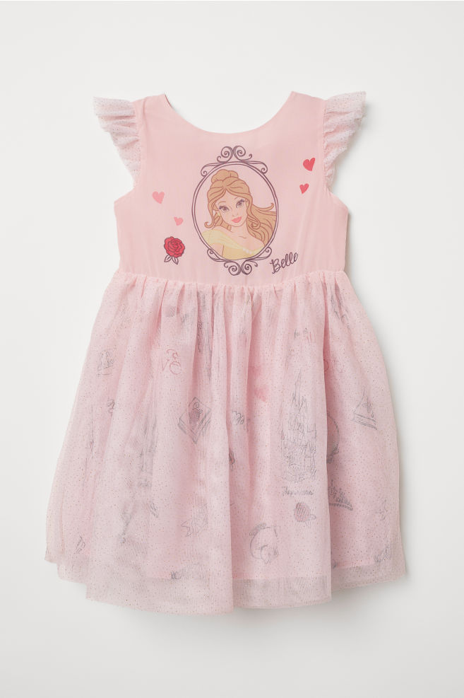 5d3adcdae Dress with a tulle skirt - Light pink/Belle - Kids | H&M ...