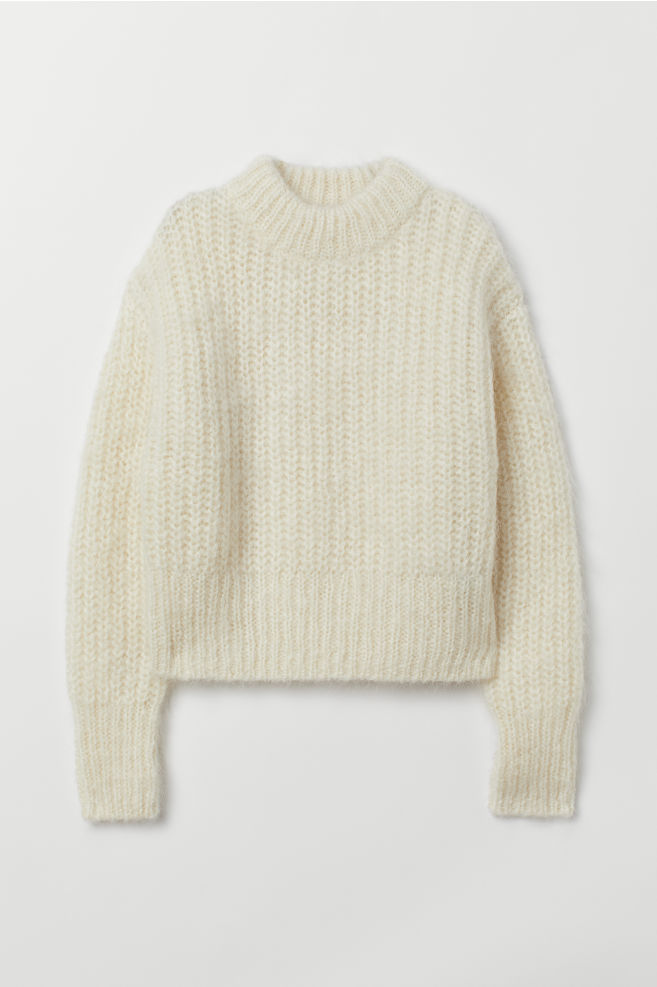 066588d439204a Chunky-knit Wool Sweater - Natural white - Ladies | H&M ...