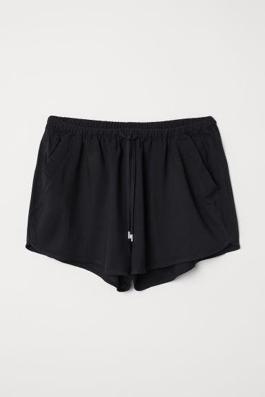 Shorts corti in viscosa - Nero - DONNA | H&M IT