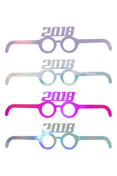4-pack cardboard party glasses - Purple/2018 - Ladies | H&M