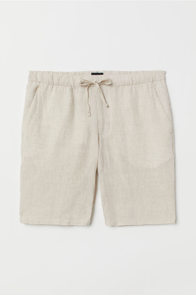da435c01ff ... Relaxed Fit Linen-blend Shorts - Natural white - Men | H&M ...