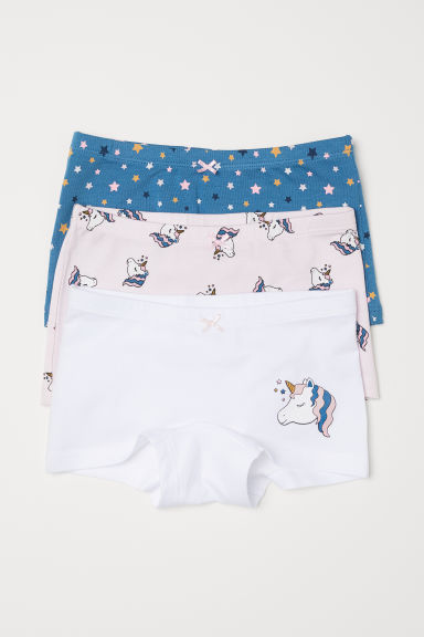 3-pack boxer briefs - Light pink/Unicorn - Kids | H&M CN