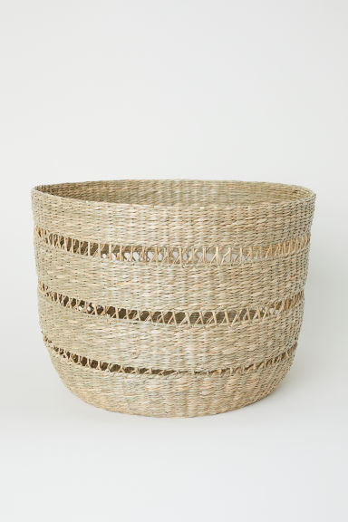 Grande cesto in seagrass - Beige/seagrass - HOME | H&M IT