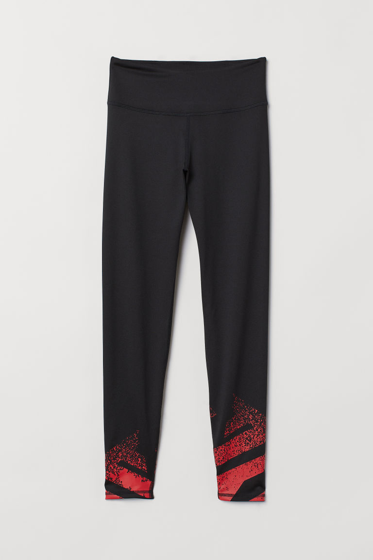 Sports tights - Black/Red - Ladies | H&M CN