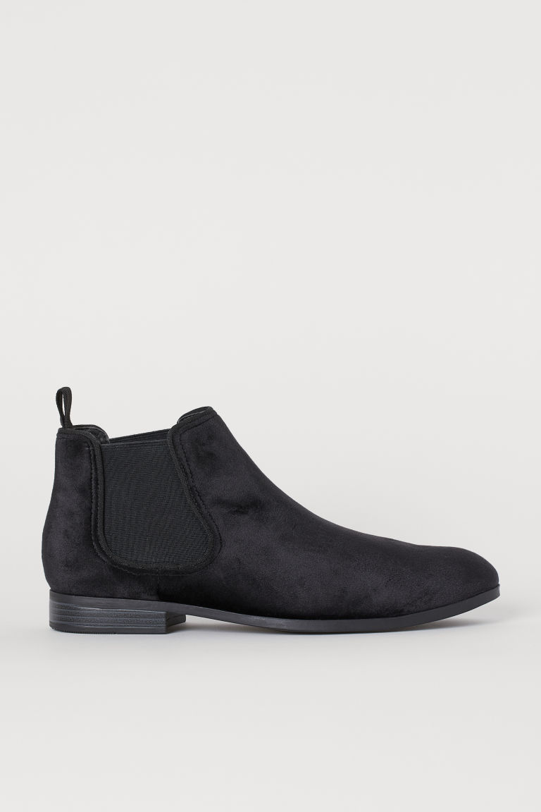 Bottines Chelsea - Noir/velours - HOMME | H&M BE