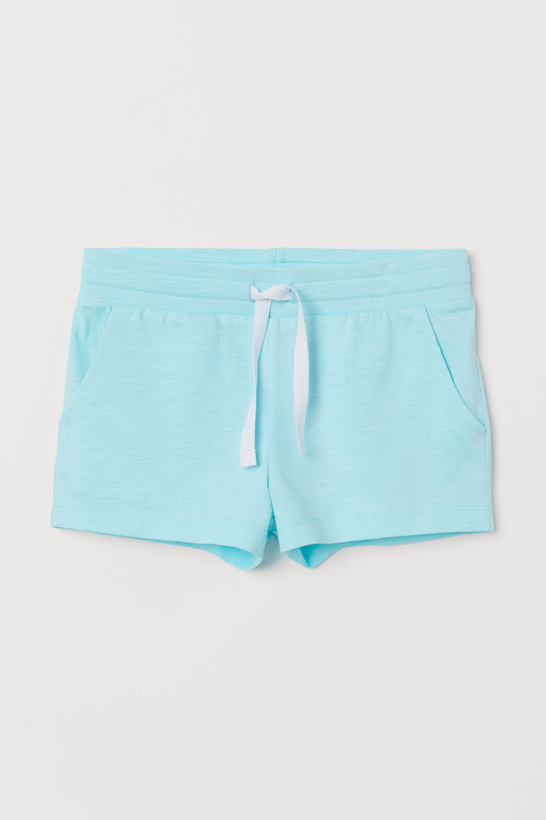 Short jersey shorts - Light turquoise - Kids | H&M